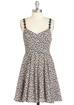 Bespeckled with Blossoms Dress. Sow the seeds of playfulness throughout your day in this darling floral sundress.  #modcloth