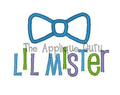 Little Mister -- Machine Embroidery Design