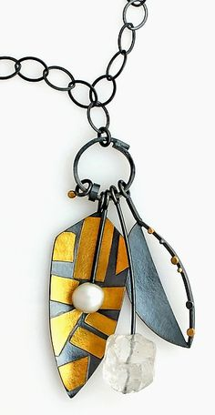 Hera Necklace: Sydney Lynch: Gold, Silver & Pearl Necklace - Artful Home