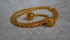 Vintage Gold tone belt or necklace chunky от BlackGiraffeShop, $8.99