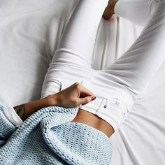 fall fashion light blue knit