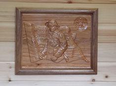 FIREMAN American Flag Fireman Decor ~ Firefighter ~ Gift for Fireman ~ Fireman Decor ~ Gift Idea Fireman ~ 12x10 Square Hickory Walnut Wood