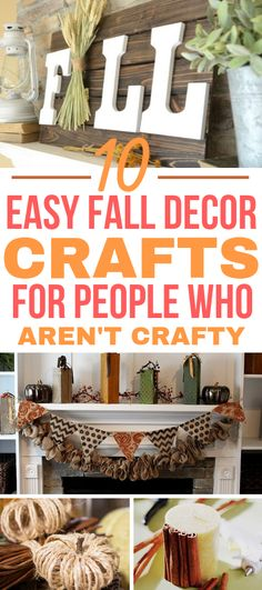 These EASY fall decor crafts are the BEST! I'm so glad I found all of these great fall decor crafts. Now I have some simple fall decor crafts that I can make for this holiday season. #fall #autumn #falldecor #autumnal #dollarstore #dollarstoredecor #falldollarstoredecor #homedecor #DIY