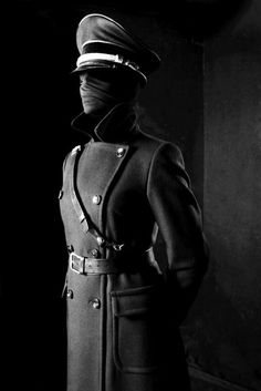 The devil in uniform. A more militaristic concept for The Devil as it views war as a necessity for suffering. Uniform designed by Hugo Boss for Nazi Germany. Character Inspiration, Character Art, Faceless Portrait, Mode Latex, Mode Sombre, Shadow People, Black Photography, Military Art, Winter Soldier