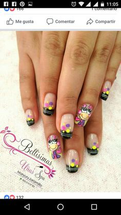 Cute Nails, Pretty Nails, Beautiful Nail Art, Nail Arts, Manicure And Pedicure, Hair And Nails, Nail Art Designs, Finger, Nail Polish