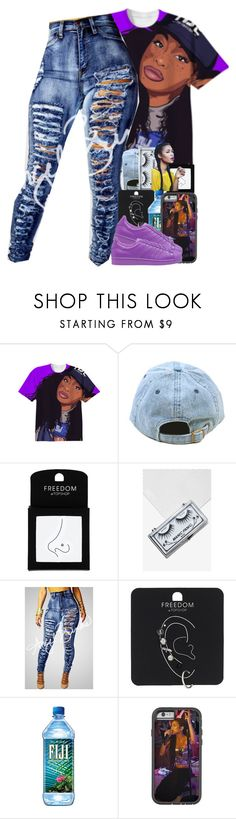 """Love a n'gga with the gold slugs"" by thaofficialtrillqueen ❤ liked on Polyvore featuring Topshop, Manic Panic NYC and adidas Originals"