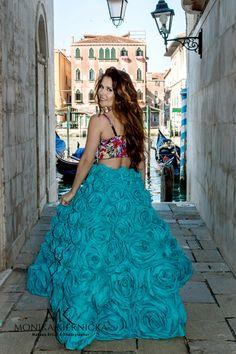 Rose skirt by Monika Kiernicka.... fashion in Venice