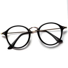 2016 Women Men Vintage Round Eyewear Frames Retro Optical Glasses Frame Eyeglasses Goggle Oculos