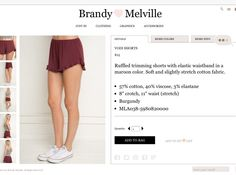 Brandy Melville vodi shorts. Available in many other colors like heather gray and light blue. See website above