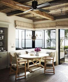 nook w/windows and exposed beams