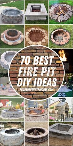 Give your backyard a makeover with one of these warm and cozy DIY fire pits. From cheap and easy portable fire pits to in ground fire pits for large areas, there are plenty of outdoor ideas for every size, style and budget. Outside Fire Pits, Cool Fire Pits, Easy Fire Pit, Cheap Fire Pit, Garden Fire Pit, Fire Pit Backyard, Backyard Seating, Backyard Landscaping, In Ground Fire Pit