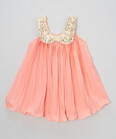Look what I found on #zulily! Deep Pink Ruffle Tunic Dress - Toddler & Girls #zulilyfinds