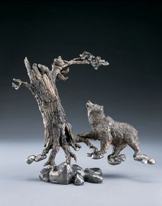 Play Time- A bronze sculpture by Mark Hopkins  17x18 inches