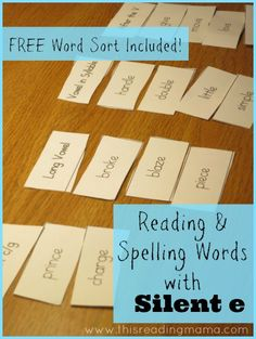 Reading and Spelling Words with Silent e (Free Printable Included) | This Reading Mama