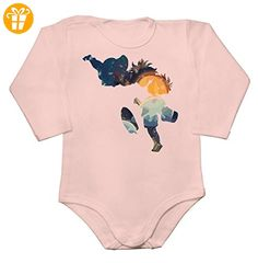 Silhouettes Of Ponyo And Sousuke Artwork Baby Long Sleeve Romper Bodysuit Extra Large - Baby bodys baby einteiler baby stampler (*Partner-Link)