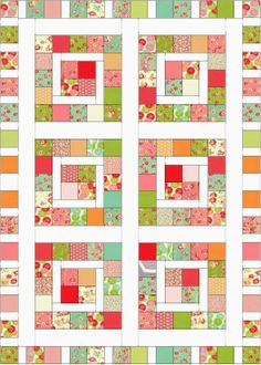 Charm Pack Baby Quilt http://www.craftsy.com/user/1147278/pattern-store