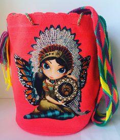 Authentic Wayuu Mochila Colombian Bag Large Beautiful/Chic/Indigenous/Fashion    eBay Large Bags, Decoration, Diy Ideas, Knitting, Chic, Best Deals, Ebay, Beautiful, Fashion