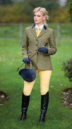 Equetech Kenton Deluxe Tweed Riding Jacket  I don't care for yellow, but we knos how to change that. lol