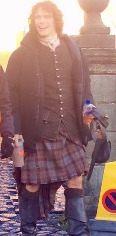 Sam on Outlander set