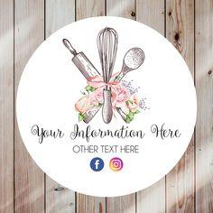 Baking Logo Design, Cake Logo Design, Custom Logo Design, Custom Logos, Branding Design, Brand Identity Design, Corporate Branding, Logo Sticker, Sticker Design