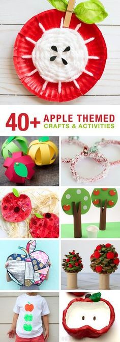 40 Apple themed crafts and activities