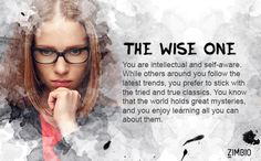 I'm the Wise One! Find out what the Zimbio inkblot test says about your personality. - Quiz
