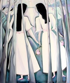 In The Silver Woods by Syra Larkin on ArtClick.ie Irish Art Mythology Irish Art, Mythology, Woods, Ireland, Artists, Detail, Silver, Fashion, Moda