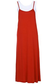 ROMWE | ROMWE Red Two-pieced Camisole Dress, The Latest Street Fashion