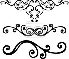 fancy scrolls clip art | ... author sanyal wall decal number 6062085 clip art corner curve element
