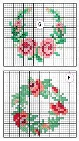 Cross stitch /// Little roses Tiny Cross Stitch, Free Cross Stitch Charts, Cross Stitch Flowers, Cross Stitch Designs, Cross Stitch Patterns, Cross Stitching, Cross Stitch Embroidery, Embroidery Patterns, Hand Embroidery