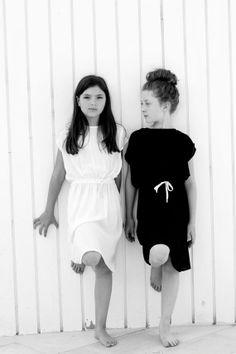 Girl's black dress minimalist black dress for girls by 22shtaim, $35.00