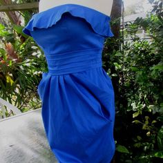 Jessica Simpson SEXY Blue Womens size 4 Strapless Sundress Dress Dress $98  #JessicaSimpson #straplessdresscasualdressessexydressesbluedressespartydresses #casual