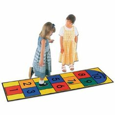 Hopscotch Carpet - Take along, classic game for young kids that aids in developing motor and counting skills.