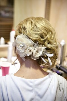 I Loved my hair. Found the flower piece at a random bridal boutique.