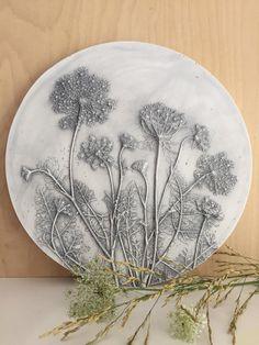 Kunst - Doldenblütler, Geschenk, Wanddeco, Reliefsbild  - ein Designerstück von Lena_Bauer_ bei DaWanda