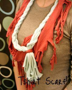 t-shirt scarf idea