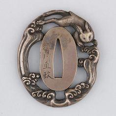 virtual-artifacts:  Sword Guard (Tsuba)Date: ca. 1615–1868Culture: JapaneseMedium: Silver, copperDimensions: H. 2 ¼ in. (5.7 cm); W. 1 7/8 in. (4.8 cm); thickness 5/16 in. (0.8 cm); Wt. 2.4 oz. (68 g)