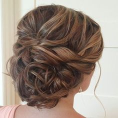 updo wedding hairstyle via heather ferguson