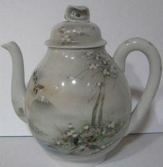 VTG 1940 Eggshell Porcelain Japanese Handpainted Tea Pot