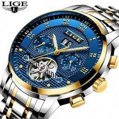 Cool Watches: Discount Up to LIGE Mens Watches Top Brand Business Fashion Automatic Mechanical Watch Men Full Steel Sport Waterproof Watch Relogio Masculino Sport Watches, Cool Watches, Men's Watches, Fashion Watches, Waterproof Sports Watch, Top Luxury Brands, Affordable Watches, Swiss Army Watches, Automatic Watches For Men