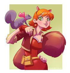 Squirrel Girl by pungang on DeviantArt