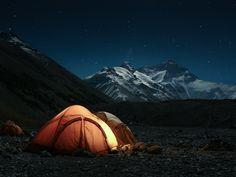 Everest base camp by Andrew Robertson    Via Flickr: Mount Everest, Tibet