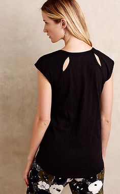 Cutout Back Tee #anthrofave