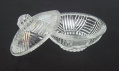 Vintage French glass dish