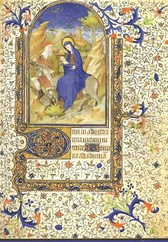 "Of the 2 blues, the most beautiful, called azur d'outremer was an ultramarine made from costly Oriental lapis-lazuli (pierre d'azur), which was considered so precious that 2 leather bags containing it were mentioned in the Duc de Berry's inventory: ""deux sacs de cuir où il y a dedans de l'azur."" With this deep & yet transparent blue, the Limbourgs created their luminous skies. The 2nd blue, azur d'Allemagne, or cobalt blue, was made from Saxony cobalt ore & less transparent."