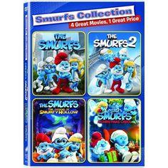The Smurfs / The Smurfs 2 / The Smurfs: The Legend of Smurfy Hollow / The Smurfs: A Christmas Carol (DVD)