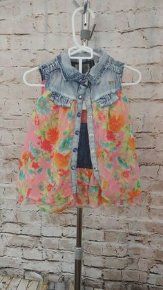Guess Baby Girl Clothes 3T Denim Shirt Top+Skirt Set Summer Dress Outfit Floral  | Clothing, Shoes & Accessories, Baby & Toddler Clothing, Girls' Clothing (Newborn-5T) | eBay!