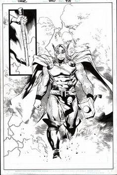 Thor 600 SPLASH by Olivier Coipel Comic Art