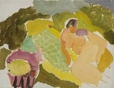 Nude on a Green Rug, c.1934 by Ivon Hitchens © The Estate of Ivon Hitchens. All rights reserved. DACS/Artimage 2020. Photo: Jonathan Clark & Co