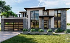 Luxury Villa Inspired From Macedonia – Amazing Architecture Magazine Modern Exterior House Designs, Dream House Exterior, Modern Architecture House, Modern Home Exteriors, Best Modern House Design, Prairie Style Architecture, Modern House Facades, Interior Modern, Amazing Architecture